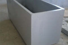 Vasi in cemento liscio 100x40x40h