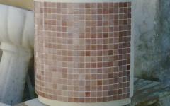 Mezzaluna da cm 50 con mosaico